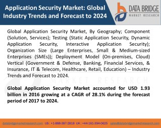 Global Application Security Market – Industry Trends and Forecast to 2024