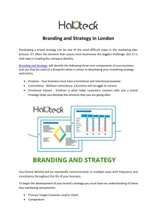 Branding and Strategy in London