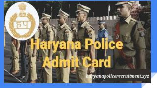 Haryana Police Constable Admit Card 2018