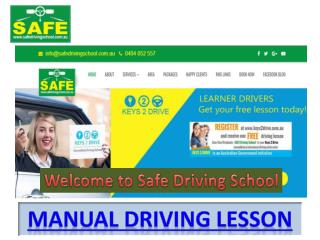 Manual Driving Lesson