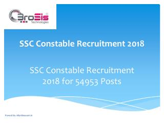 SSC Constable Recruitment 2018