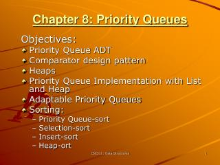 Chapter 8: Priority Queues