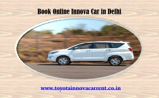 Toyota Innova Car on Rent, Online Innova Booking Delhi
