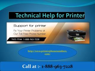 Technical Help for Printer Customer Service