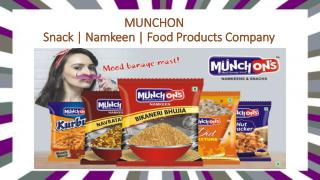 Food Products Manufacturers | Snack  | Namkeen | Food Products Company Delhi NCR, India - Munchons