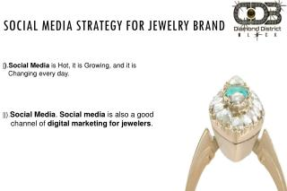 Social Media Strategy For Jewelry Business