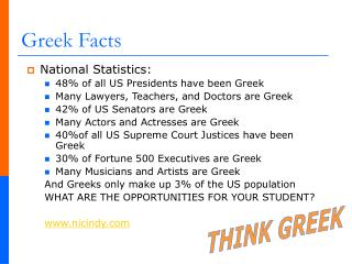 Greek Facts