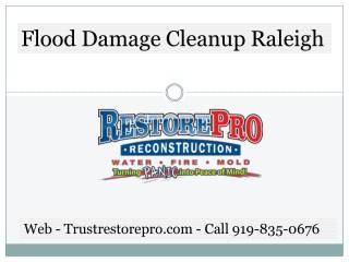 Flood Damage Cleanup Raleigh North Carolina