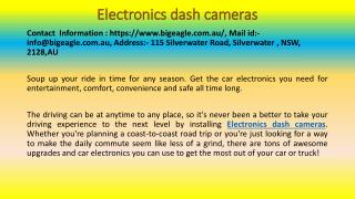 Car Electronics Make Driving More Comfortable, Convenient, Safe and Enjoyable!
