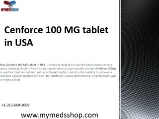 Cenforce 100 MG tablet in USA