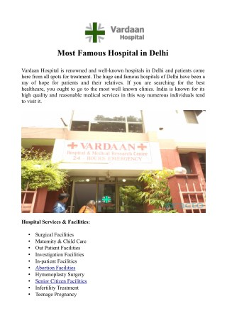 Famous Hospital in Delhi, India