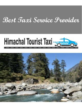 Best Taxi Service Provider