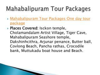 Mahabalipuram Tour Packages - Chennai Travels - Zig Zag Cars