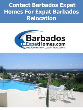 Contact Barbados Expat Homes For Expat Barbados Relocation