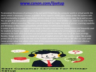 www.canon.com/ijsetup - Install Canon printer Setup | canon.com/ijsetup
