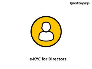 Introduction to online kyc for all directoers