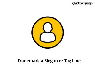 Procedure to trademark slogan or tag line in India