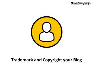 Trademark or copyright your blog