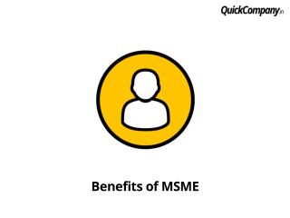 What are advantages of MSME