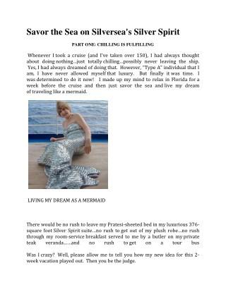Savor the Sea on Silversea