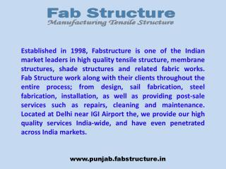 Tensile Structure in Punjab | Tensile Fabric Structure Manufacturer