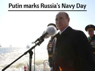 Putin marks Russia's Navy Day