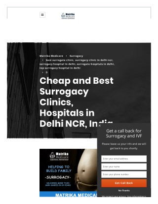 Cheap and Best Surrogacy Clinics, Hospitals in Delhi NCR, India