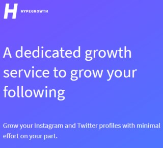 Hypegrowth: Grow Real Twitter Followers | Twitter growth service