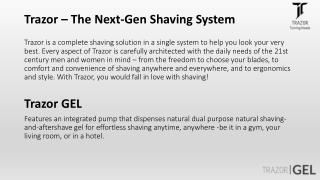 Trazor - The Best Shaving System in the World