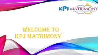 Best Matrimony in Chennai - KPJ Matrimony