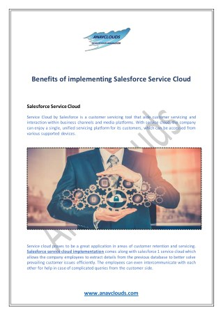 Benefits of implementing Salesforce Service Cloud