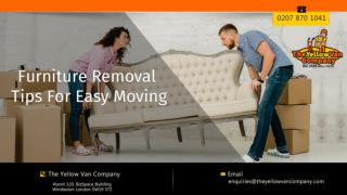 Furniture Removal Tips For Easy Moving