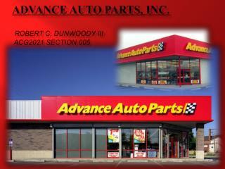 ADVANCE AUTO PARTS, INC. Robert C. Dunwoody III ACG2021 SECTION 005