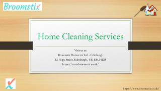 Home Cleaning Services in Edinburgh