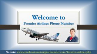 Frontier Airlines Phone Number- Get Instant Help