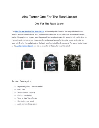 Alex Turner One For The Road Jacket.pdf