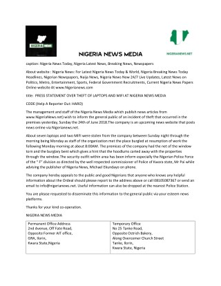 NigeriaNews: For Nigeria News Today &World, Naija News, Nigerian Newspapers,