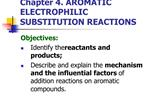 Chapter 4. AROMATIC ELECTROPHILIC SUBSTITUTION REACTIONS