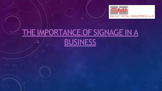 Street Signage Supplier in Dubai - Galaxy Metal Industries
