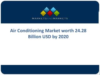 Global Opportunities and Trends of Air Conditioning Market