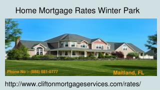Clifton mortgage   Home Mortgage Rates Winter Park   Florida,US