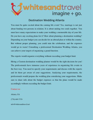 Destination Wedding Atlanta