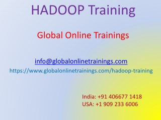 Hadoop Training | Best Big data Hadoop Online training - GOT