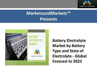 Battery Electrolyte Market