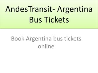 AndesTransit- Argentina Bus Tickets