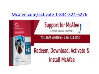 Mcafee internet security | 1-844-324-6276 | mcafee.com/activate