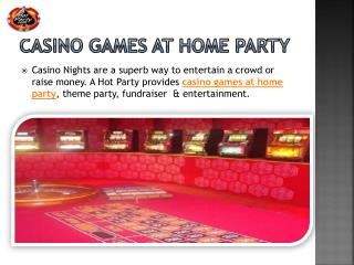 Casino Games at Home Party
