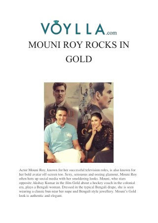 MOUNI ROY ROCKS IN GOLD