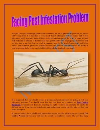 Facing Pest Infestation Problem