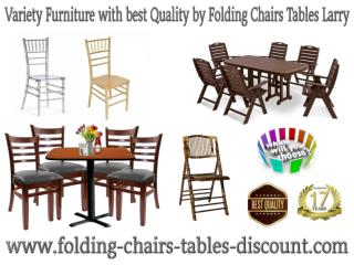 Variety Furniture with best Quality by Folding Chairs Tables Larry